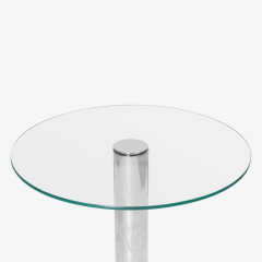 Pace Collection Chrome Accent Table in the Style of Leon Rosen for Pace - 1899092