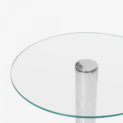 Pace Collection Chrome Accent Table in the Style of Leon Rosen for Pace - 1899093
