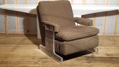 Pace Collection Lucite Reclining Lounge Chair 1980s - 2066746