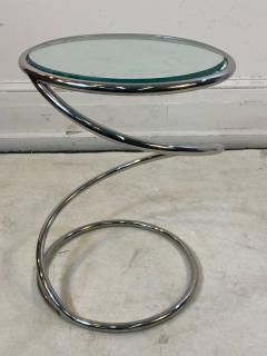 Pace Collection MODERNIST PAIR OF CHROME SPIRAL TABLES BY PACE - 1798734