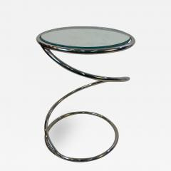 Pace Collection MODERNIST PAIR OF CHROME SPIRAL TABLES BY PACE - 1806932