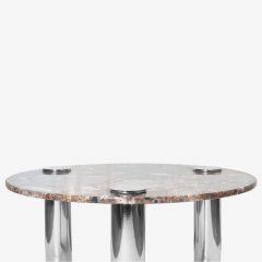 Pace Collection Marble Chrome Cocktail Table in the Style of Leon Rosen for Pace Collection - 1910792