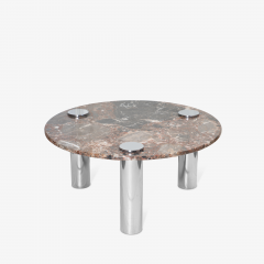Pace Collection Marble Chrome Cocktail Table in the Style of Leon Rosen for Pace Collection - 1910793