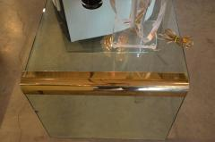 Pace Collection Mid Century Modern Pace Brass and Glass Waterfall End Side Table - 622759