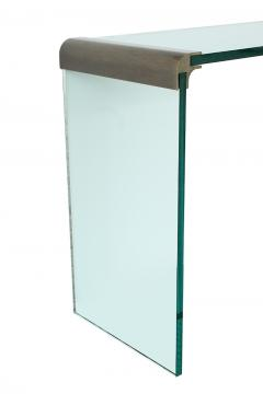 Pace Collection Pace Bronze and Glass Waterfall Console Table - 1043264