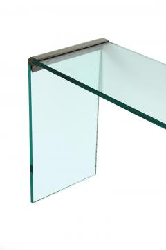 Pace Collection Pace Bronze and Glass Waterfall Console Table - 1043265