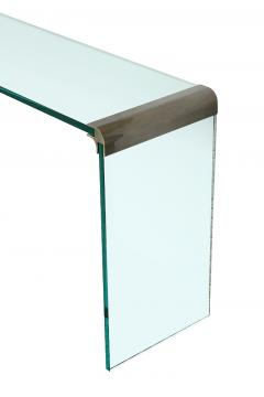 Pace Collection Pace Bronze and Glass Waterfall Console Table - 1043266