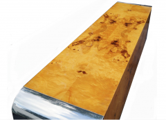 Pace Collection Pace Collection Burl Wood Credenza or Sideboard Steel Waterfall - 1747950