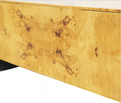 Pace Collection Pace Collection Burl Wood Credenza or Sideboard Steel Waterfall - 1747952