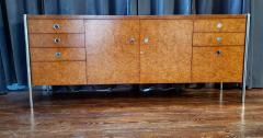 Pace Collection Pace Collection Custom Made Burled Olive and Chrome Credenza - 1246264