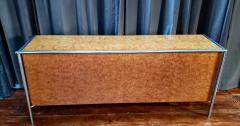 Pace Collection Pace Collection Custom Made Burled Olive and Chrome Credenza - 1246266