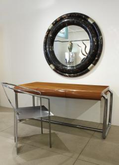 Pace Collection Pace Collection Large Desk in Lacquered Rosewood and Chrome 1970s - 1099480
