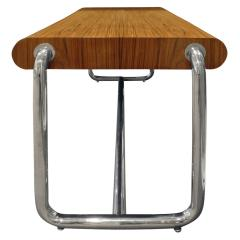 Pace Collection Pace Collection Large Desk in Lacquered Rosewood and Chrome 1970s - 1099481