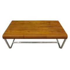 Pace Collection Pace Collection Large Desk in Lacquered Rosewood and Chrome 1970s - 1099482