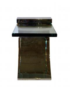 Pace Collection Pace Collection Polished Chrome and Glass Side Table 3 available - 762852