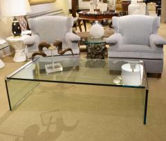 Pace Collection Pace Glass Waterfall Coffee Table 1970s - 1166136