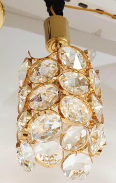 Palwa Ernest Palme Faceted Crystal and Gilt Brass Pendant - 2007882