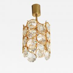 Palwa Ernest Palme Faceted Crystal and Gilt Brass Pendant - 2010291