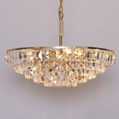 Palwa Extraordinary Huge Palwa Gilded Brass and Crystal Glass Chandelier - 544696