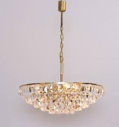 Palwa Extraordinary Huge Palwa Gilded Brass and Crystal Glass Chandelier - 544698