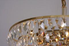 Palwa Extraordinary Huge Palwa Gilded Brass and Crystal Glass Chandelier - 544701
