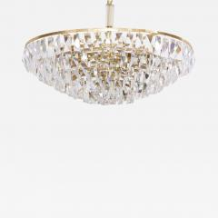 Palwa Extraordinary Huge Palwa Gilded Brass and Crystal Glass Chandelier - 545771