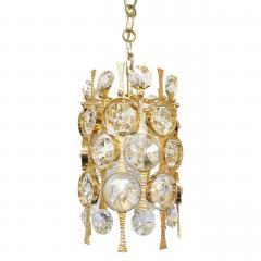 Palwa Gilt Brass Crystal Pendant Light by Palwa - 1641345