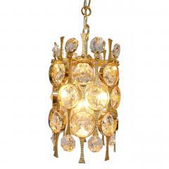 Palwa Gilt Brass Crystal Pendant Light by Palwa - 1641346