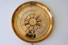 Palwa Gorgeous Gilt Brass Crystal Glass Backlit Wall Mirror by Palwa Germany 1970s - 1915081