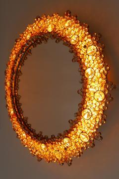 Palwa Gorgeous Gilt Brass Crystal Glass Backlit Wall Mirror by Palwa Germany 1970s - 1915084