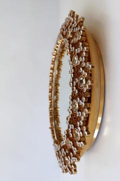 Palwa Gorgeous Gilt Brass Crystal Glass Backlit Wall Mirror by Palwa Germany 1970s - 1915090