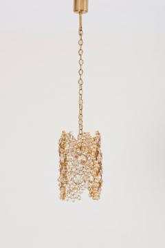Palwa One of Three Palwa Gilded Brass and Crystal Glass Encrusted Pendant Lamps - 984100