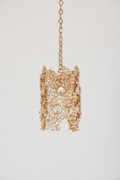 Palwa One of Three Palwa Gilded Brass and Crystal Glass Encrusted Pendant Lamps - 984102