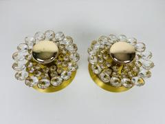Palwa PAIR OF CRYSTAL GLASS SCONCES BY PALWA GERMANY 1960S - 2011957
