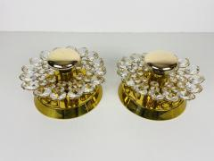 Palwa PAIR OF CRYSTAL GLASS SCONCES BY PALWA GERMANY 1960S - 2012046