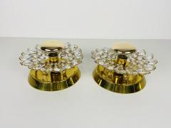 Palwa PAIR OF CRYSTAL GLASS SCONCES BY PALWA GERMANY 1960S - 2012048