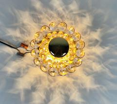 Palwa PAIR OF CRYSTAL GLASS SCONCES BY PALWA GERMANY 1960S - 2012054