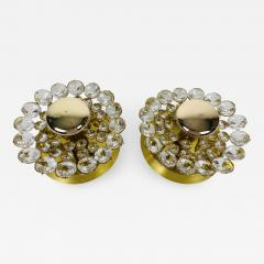 Palwa PAIR OF CRYSTAL GLASS SCONCES BY PALWA GERMANY 1960S - 2013038