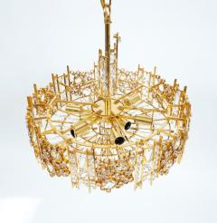 Palwa Pair of Gilt Brass and Crystal Glass Encrusted Chandelier - 223269