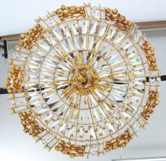 Palwa Pair of Gilt Brass and Crystal Glass Encrusted Chandelier - 223270