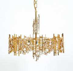 Palwa Pair of Gilt Brass and Crystal Glass Encrusted Chandelier - 223271