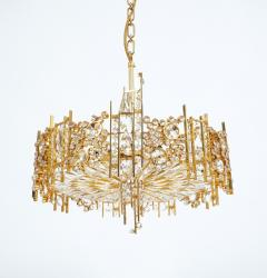 Palwa Pair of Gilt Brass and Crystal Glass Encrusted Chandelier - 223272