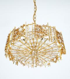 Palwa Pair of Gilt Brass and Crystal Glass Encrusted Chandelier - 223273