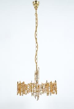 Palwa Pair of Gilt Brass and Crystal Glass Encrusted Chandelier - 223276