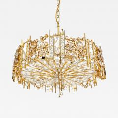 Palwa Pair of Gilt Brass and Crystal Glass Encrusted Chandelier - 227453