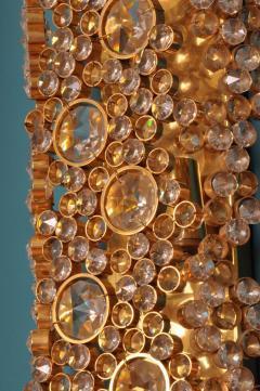 Palwa Palwa 14 Karat Gold Plated Brass and Cut Crystal Glass Sconce Germany 1970s - 1030581