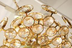 Palwa Palwa Gilt Brass and Crystal Chandelier - 842246