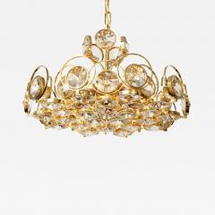 Palwa Palwa Gilt Brass and Crystal Chandelier - 843727