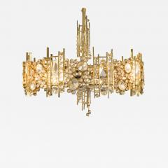 Palwa Palwa Gold Plated Brutalist Pendant With Austrian Crystal Circa 1969 - 644666
