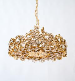 Palwa Set of 3 Gilt Brass Crystal Glass Encrusted Chandeliers By Palwa - 231479